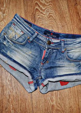 Фирменные джинсовые шорты dsquared 2 оригинал