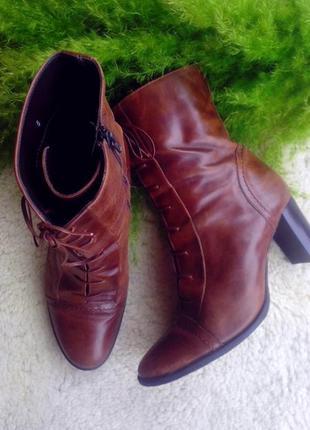 Кожаные стильные ботинки, полусапожки, сапоги clarks р 39 стелька 26