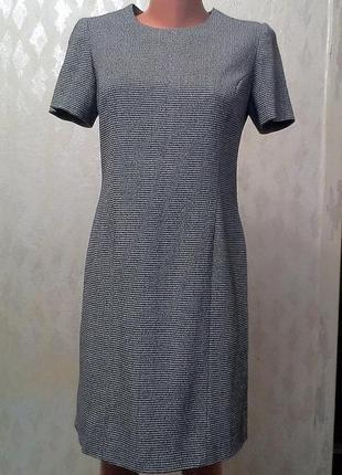 Тёплое жоккардовое офисное платье