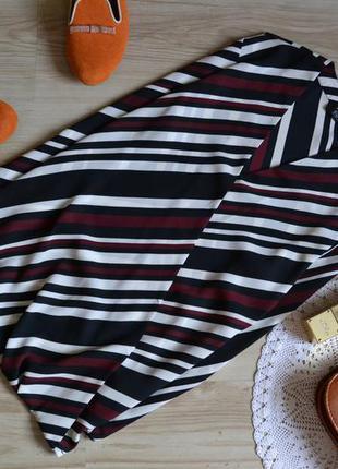 Блуза в полоску на запах f&f