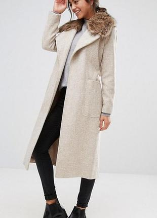 Стильное пальто с поясом asos