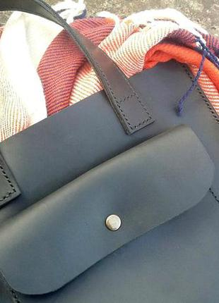 Кожаная сумка ручной работы из натуральной кожи