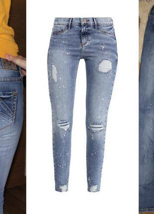 Стильные брендовые джинсы знаменитого бренда river island р. s-m