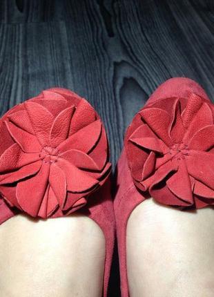 Красные балетки clarks размер-38