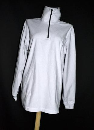Шикарный белый флисовый свитер, зимний, очень теплый!