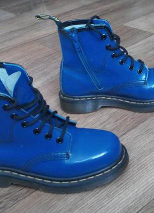 Ботинки dr.martens 35 cиние кожа оригинал