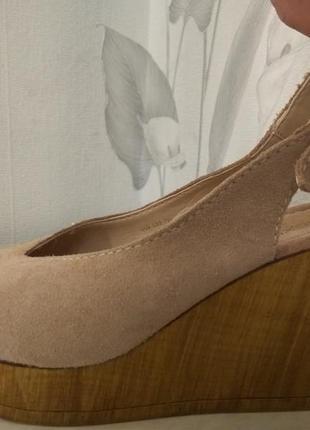 Открытые туфли, босоножки next р.39/6 23-24см бренд, кожа, новые