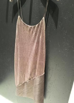 Золотое платье bershka