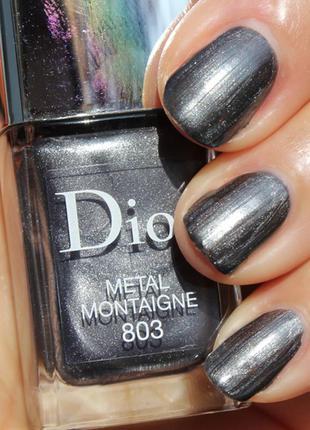 Лак для ногтей диор dior vernis тон  803 metal montaigne