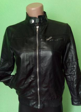 Классная курточка из кожзама