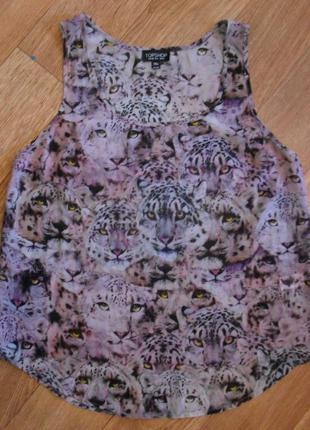 Шифоновая блуза, майка в тигры