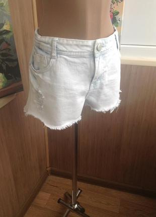 Джинсовые шорты с потертостями l-xl