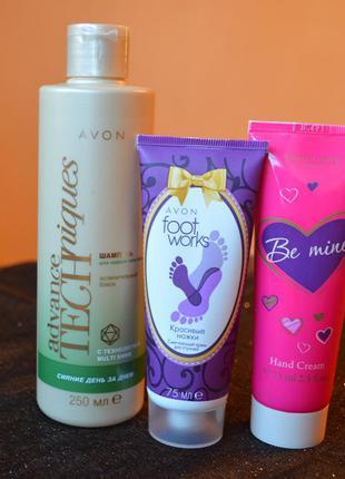 Набор полезной косметики avon и oriflame - шампунь и два крема