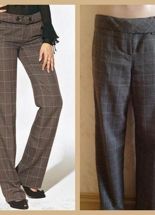 Классические повседневные теплые брюки в клетку от george, клетчатые штаны