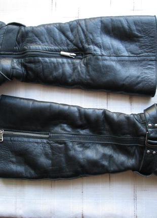 Сапоги кожаные, утепленные (на теплую зиму)