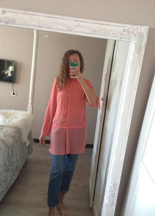 Довга блуза #коралакая рубашка