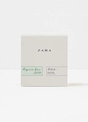 Набор zara white + turquoise green 2x50 ml