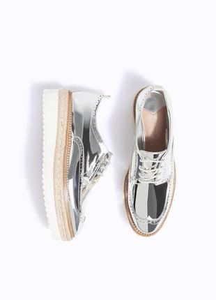 Туфли на шнурках stradivarius
