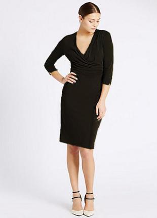 Черное платье m&s uk 16 xl-xxl