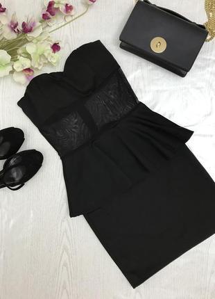 Нарядное черное платье.платье бюстье.
