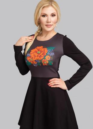 Коротенькое платье с цветами на худенькую девушку. распродажа