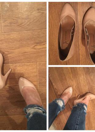 Туфли лодочки, туфельки бежевые, туфли бежевые, туфельки