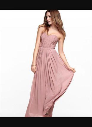 Шикарное вечернее длинное платье  h&m
