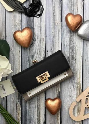 Элегантный кошелек new look с комбинированной застежкой