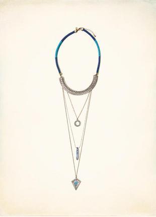Очень стильная длинная подвеска, ожерелье в этностиле от известного американского бренда.