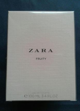 Zara fruity 100 ml запаковані зі слюдом!