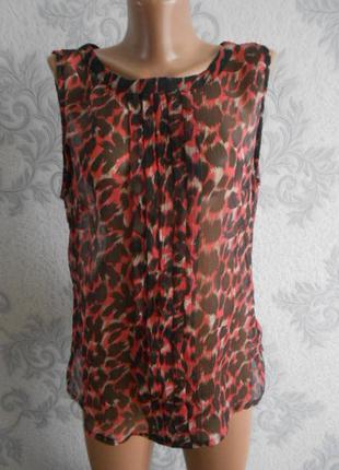 Шифоновая блузка f&f в идеальном состоянии ххl