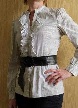 Рубашка-блуза в мелкую полоску 10р