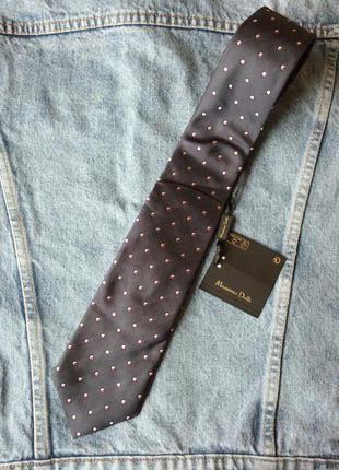 Шелковый галстук massimo dutti