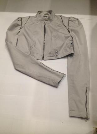 Серая короткая куртка/красивый пиджак/стильное балеро/tago