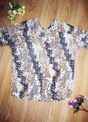 Красивая блуза с v-образным вырезом от f&f р. 12