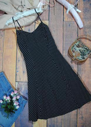 Сарафан на тонких бретельках в мелкий горошек marks & spencer размер uk12 (m) платье