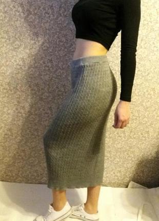 Юбка в пол,длинная юбка,вязаная юбка,