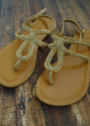 Новые new look кожаные сандалии босоножки размер 37