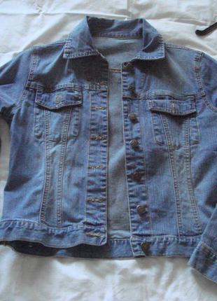 Джинсовая курточка «denim» 10 размер в идеальном состоянии