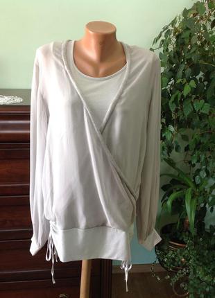 Шикарная нежная фирменная блуза /44/ бренд joy  италия