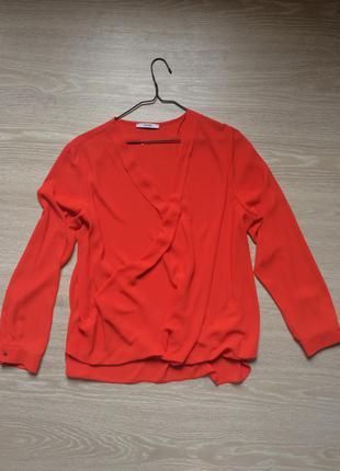 Лёгкая шифоновая блуза с вырезом george