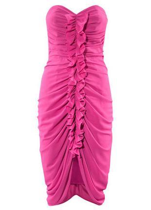 Яркое платье бюстье h&m