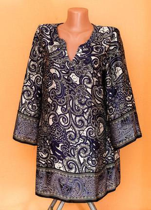 Шикарная блуза(туника) с восточным принтом
