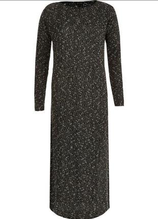 Трикотажное платье-туника с разрезами по боковым швам