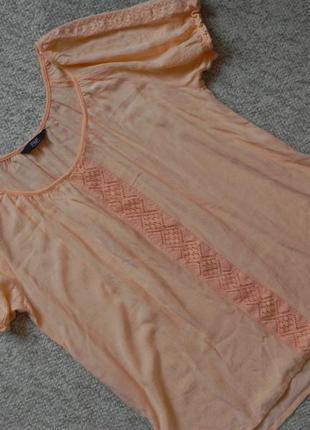Очень качественная вещь! персиковая блуза f&f