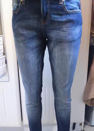 Крутые вытертые скинни джинсы zara basic dept.