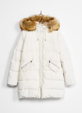 Стильная куртка-пуховик bershka размер xs
