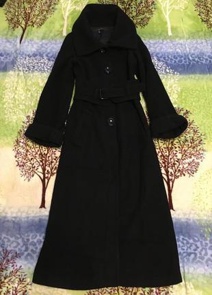 Пальто кашемировое с-м на высоких