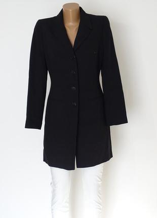 Черное классчиское пальто тренч на весну
