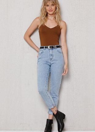 Крутые джинсы mom jeans/бойфренды с завышенной талией марки active wear размер uk12/40